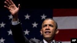 奥巴马周五在俄亥俄州竞选中称就业正常增长