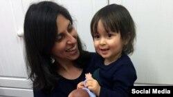 ملاقات نازنین زاغری با دخترش به مناسبت جشن تولد سه سالگی او