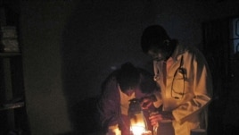Millions of Africans don't have access to electricity and must make do with potentially dangerous kerosene lamps for light (SELF)