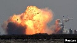 Вибух прототипу ракети SpaceX Starship SN9 в Бока Чіка, Техас, 2 лютого 2021 року