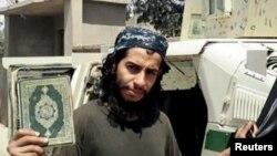 Abdelhamid Abaaoud,suuraa kana marsaa interneetii ISIS irraa keeyyate