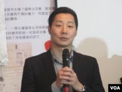 台湾在野党时代力量党立法委员林昶佐(美国之音张永泰拍摄)