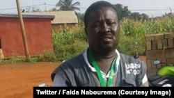 Assiba Johnson, président de l'organisation de la société civile REJADD-Togo (Regroupement des Jeunes Africains pour la démocratie et le développement, Section-Togo) a été arrêté à Lomé, 4 avril 2018. (Twitter/Faida Nabourema)