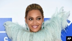 Beyonce Knowles tiba di MTV Video Music Awards di Madison Square Garden, New York, 28 Agustus 2016. (Foto: dok.)
