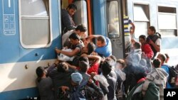 Мігранти на вокзалі в Будапешті