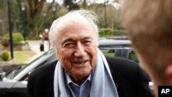 Sepp Blatter, président démissionnaire suspendu de la Fifa