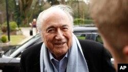 Joseph Sepp Blatter, président démissionnaire de la Fifa