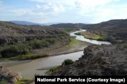 The Rio Grande river in Big Bend National Park
