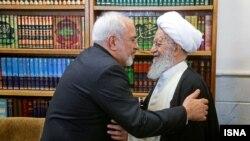 دیدار جواد ظریف با مکارم شیرازی