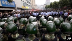 지난달 중국 쓰촨성 청두에서 열렸던 반일 시위. (자료 사진)