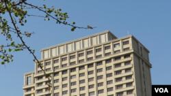 外媒称四中全会在京西宾馆秘密举行。(美国之音东方拍摄)