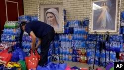 En la imagen, la Iglesia del Sagrado Corazón en McAllen, Texas, en la frontera con México, que asiste a menores migrantes.