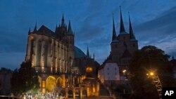 Gereja St. Severi di Erfurt, Jerman, 8 Agustus 2017, sebagai ilustrasi. (Foto: AP)