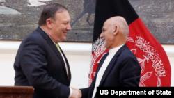 رئیس جمهور غنی و مایک پمپئو در ملاقات ۹ جولای در کابل