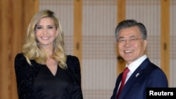 ایوانکا ترمپ، مشاور و دختر رئیس جمهور امریکا، صبح جمعه به کوریای جنوبی رسید