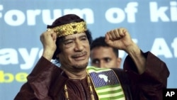 Libyan leader Moammar Gadhafi, 8 Sep 2010 (file photo)