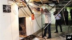 Одна из студий взорванной государственной телестанции в Дамаске. 6 августа 2012 г.