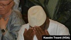 Le président malien Ibrahim Boubacar Keïta lors de l'Aïd, au Mali, le 25 juin 2017. (VOA/Kassim Traoré)