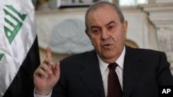 Wakil Presiden Irak Ayad Allawi (foto: dok).