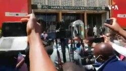Commotion Outside Zimbabwe Court