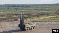 伊斯康德尔战术导弹。(美国之音白桦拍摄)