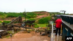 Vue générale de l'usine de lavage de diamants Disele de Miba (Minière de Bakwanga) à Mbuji-Mayi, au Kasaï, République démocratique du Congo, le 3 mai 2021.
