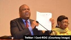 Corneille Nangaa, le président de la Commission électorale nationale indépendante à la clôture de dépôt des candidatures à la présidentielle et aux législatives nationales, Kinshasa, RDC, le 4 août 2018. (Twitter/Ceni-RDC)