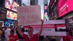 Aksi #BraveIndonesia di New York untuk Korban Bom Surabaya
