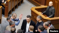 Спикер украинского парламента и и.о. президента Александр Турчинов