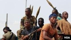 Pasukan yang setia kepada Laurent Gbagbo di Abidjan, Pantai Gading.