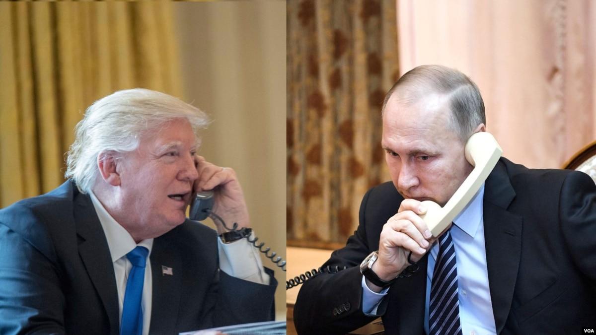 Bisedë telefonike mes presidentëve Trump dhe Putin