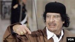 Pemerintah AS membekukan semua aset milik keluarga Moammar Gaddafi.