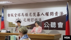 台版人權問責法公聽會2021年3月30日在台灣立法院舉行(美國之音張永泰拍攝)