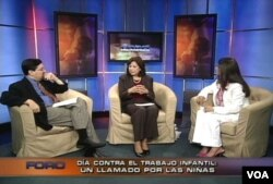 Hilda Solis, States Secretary of Labor, visits VoA studios for an interview.