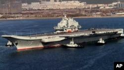 Kитайский авианосец «Ляонин».