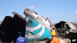 Air Bagan ေလေၾကာင္းလိုင္းမွ ဆိုးဆိုးရြားရြား ပ်က္စီးသြားေသာ ေလယာဥ္။ ဟဲဟိုးၿမိဳ႕၊ ရွမ္းျပည္နယ္၊ ဒီဇင္ဘာ ၂၅၊ ၂၀၁၂။