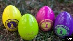 14.500 quả trứng được trang trí đầy màu sắc cho các em đi tìm, trong đó có những quả có phát ra tiếng động, để dành cho các em khiếm thị, 05/04/2010