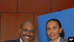 MCC CEO Daniel Yohannes with The Honorable Cristina Duarte, Minister of Finance, Republic of Cape Verde.