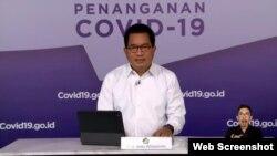 Juru Bicara Satgas Penanganan COVID-19 Prof Wiku Adisasmito dalam telekonferensi pers di Jakarta, Selasa (27/7) mengatakan PPKM Darurat dan PPKM Per Level belum mampu tekan angka kematian akibat COVID-19 (Foto:VOA).