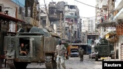 黎巴嫩軍隊巡視的黎波里街道(資料圖片)