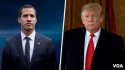 Tổng thống tự phong Venezuela Juan Guaido và Tổng thống Trump điện đàm hôm 30/1.
