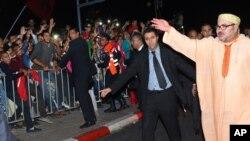Mohammed VI à Laayoune, Sahara occidental, le 6 novembre 2015. (Palais royal du Maroc via AP)