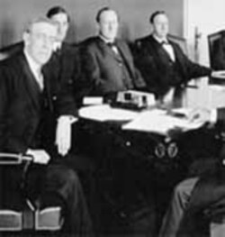 President Wilson Urges Support for Idea of League of Nations