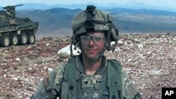 US Army Spc. Adam Winfield while on duty in Afghanistan (file photo)