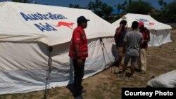 Kegiatan relawan PMI di Sulawesi Tengah. (Foto courtesy: PMI)