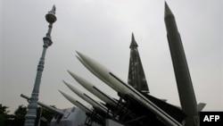 Phi đạn Scud-B của Bắc Triều Tiên trong Viện bảo tàng ở Hán Thành