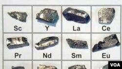 Tiongkok digugat melalui WTO karena pembatasan ekspor unsur logam 'Rare-Earth' atau tanah nadir ini (foto: dok).