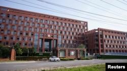 资料照片:武汉病毒研究所的入口。(2020年5月15日摄)