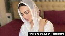 بھارت کے ٹی وی پروگرام 'بگ باس' میں شرکت سے شہرت پانے والی ثنا خان کے مطابق انہوں نے شوبز کو ہمیشہ کے لیے الوداع کہہ کر انسانیت کی خدمت کرنے کا عزم کر لیا ہے۔