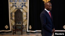 FILE - Guinea-Bissau President Jose Mario Vaz.